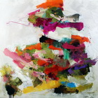 Artifice & Outright Fakery  - abstract painting by Conn Ryder