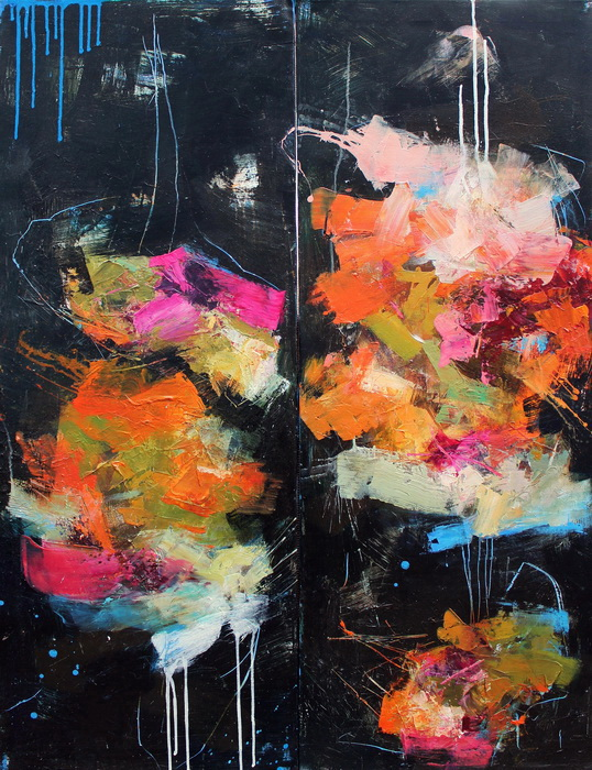 Maladjusted- abstract painting by Conn Ryder