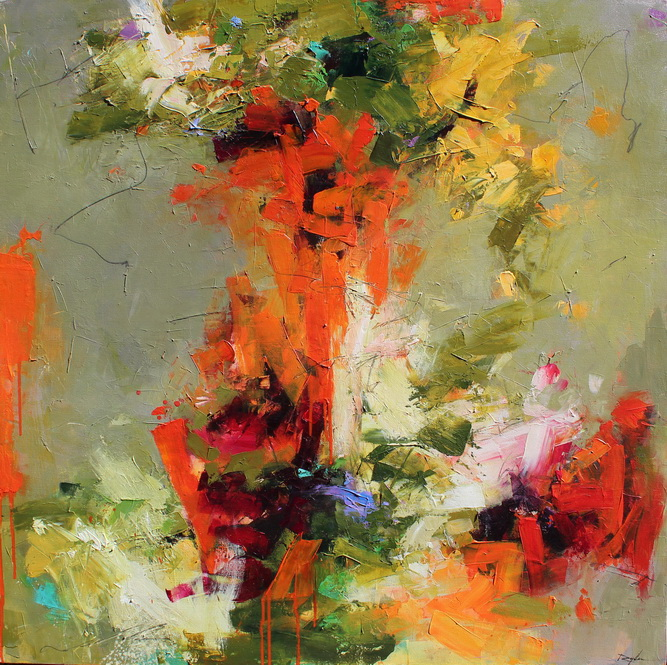 Malapert - abstract painting by Conn Ryder