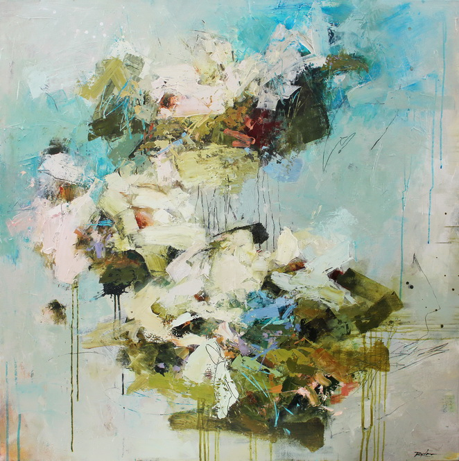 Pistil-Whipped #11 - abstract painting by Conn Ryder