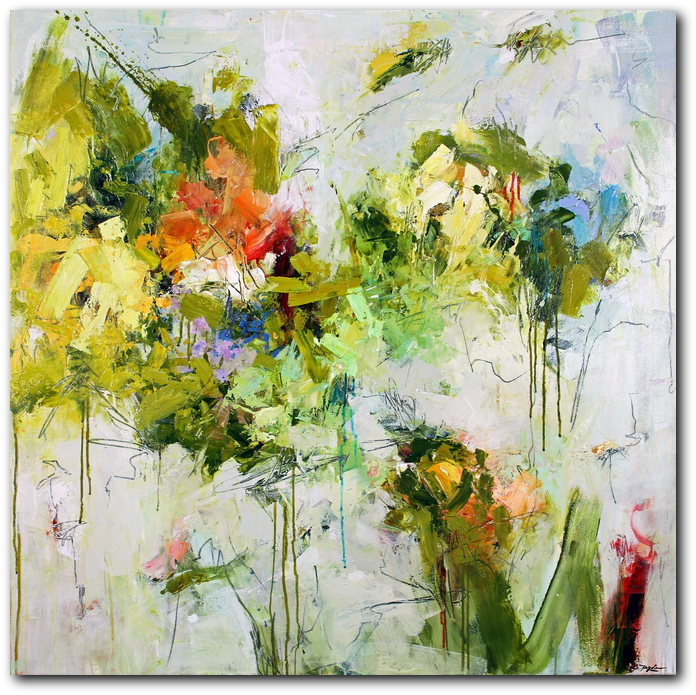 Pistil-Whipped #7 - abstract painting by Conn Ryder