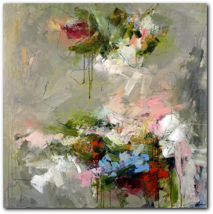 Pistil-Whipped #8 - abstract painting by Conn Ryder