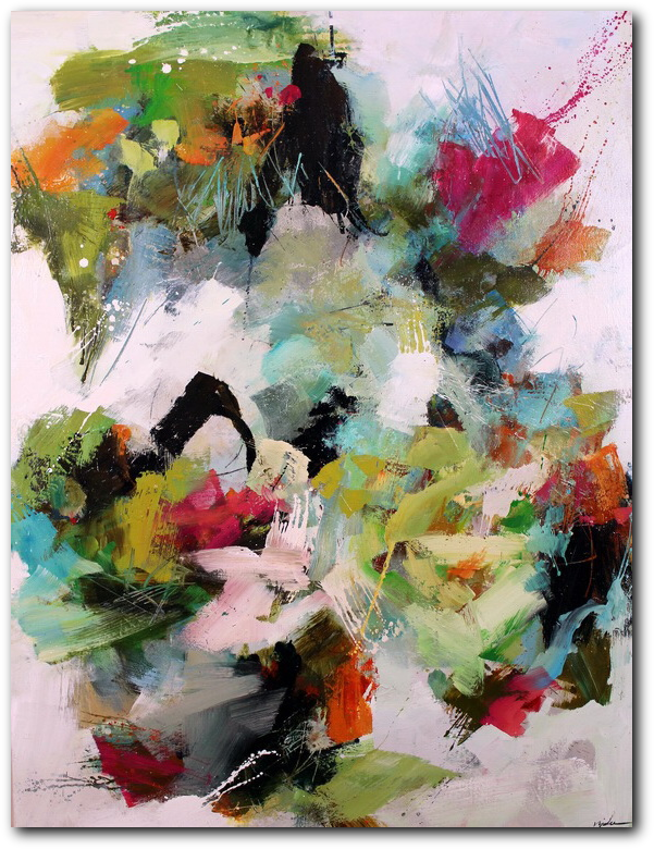 Loosely Speaking -  abstract painting by Conn Ryder