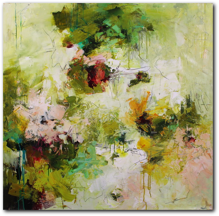 Pistil-Whipped #5 - abstract painting by Conn Ryder