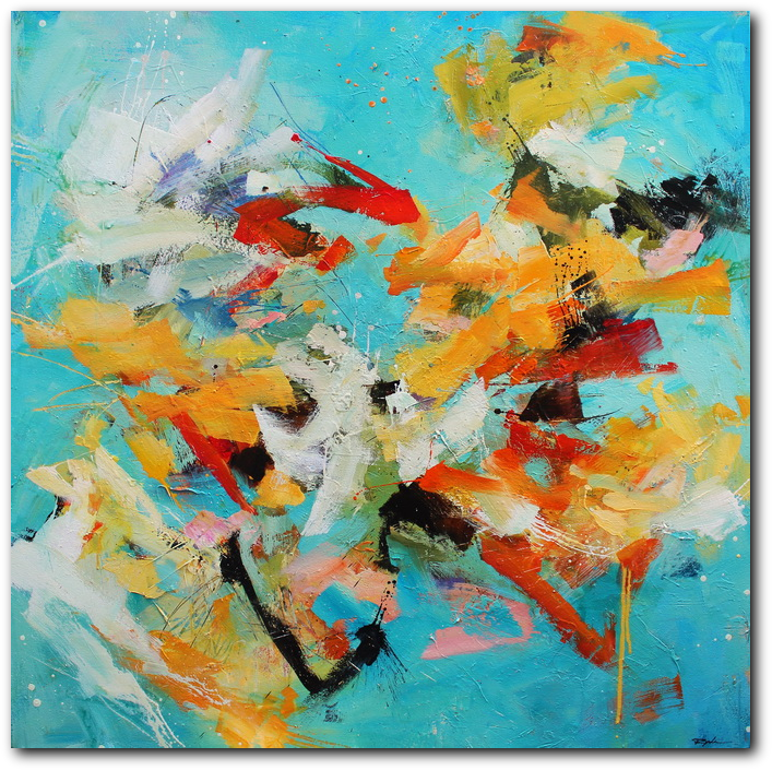 Momentum & Impulse  -  abstract painting by Conn Ryder