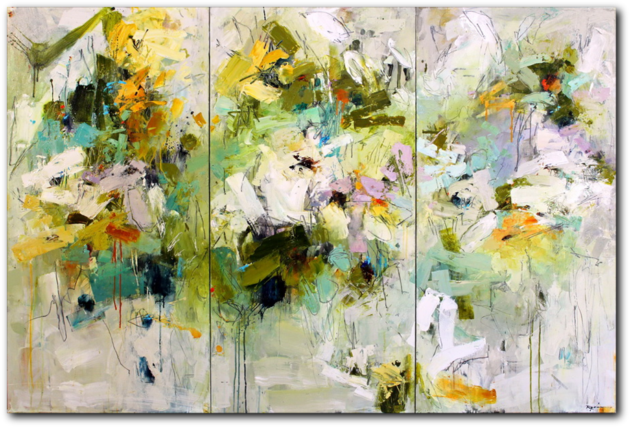 Pistil-Whipped #9  - abstract painting by Conn Ryder