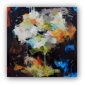 Disquietude - abstract painting by Conn Ryder