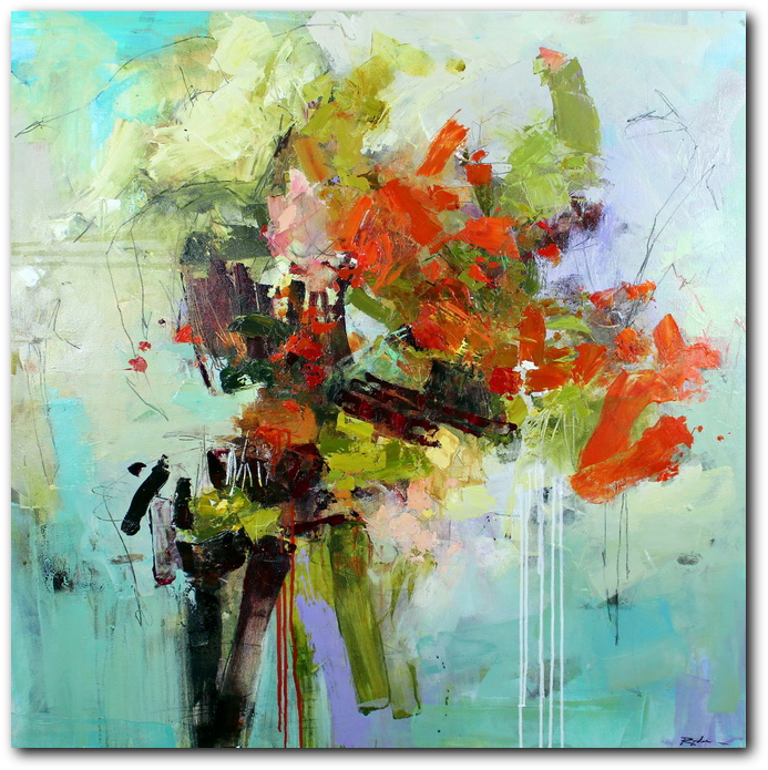 Pistil-Whipped #12 - abstract painting by Conn Ryder