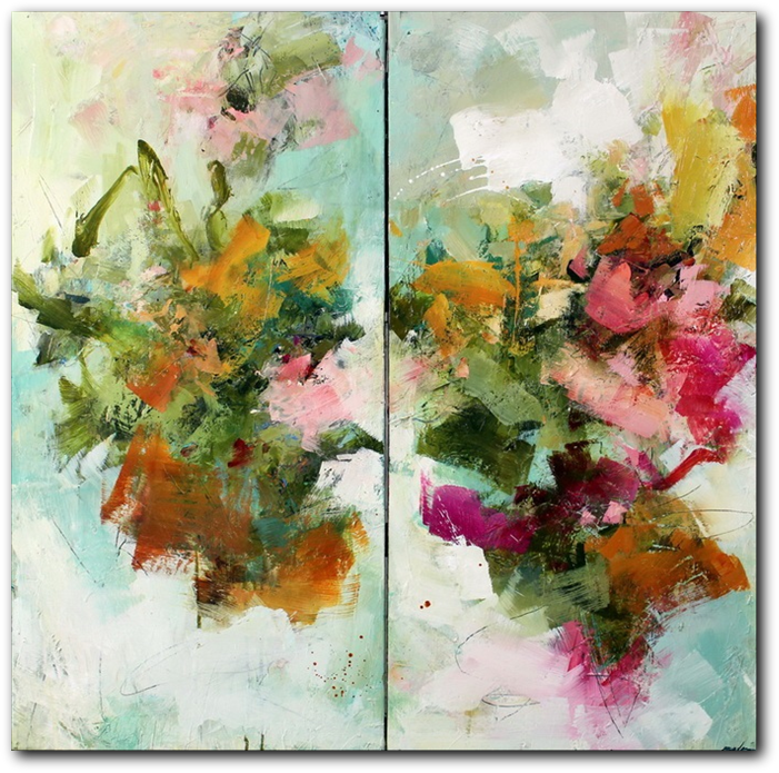 Pistil-Whipped #3 - abstract painting by Conn Ryder