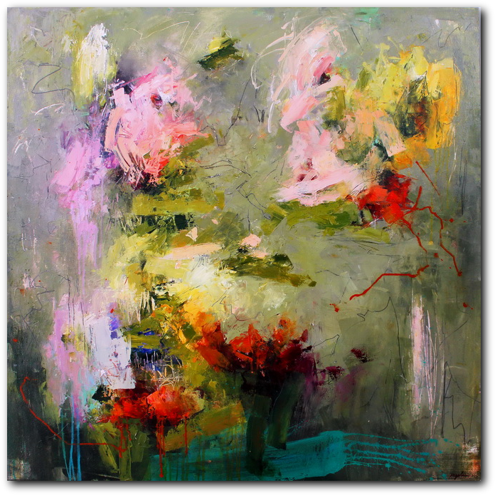 Pistil-Whipped #6 - abstract painting by Conn Ryder